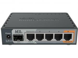 MikroTik hEX S RB760iGS L4 256MB 5x GbE port 1x GbE SFP vezetékes router