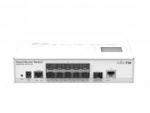 MikroTik CRS212-1G-10S-1S+IN 1x RJ45 10x SFP GigabitEthernet 1x SFP+ 10GigabitEthernet port - Layer 3-as Switch és Router