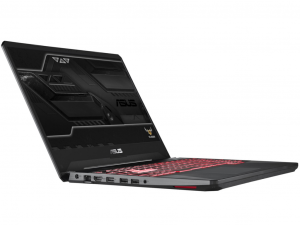 Asus Rog TUF FX505GD-BQ173 15.6 FHD, Intel® Core™ i7 Processzor-8750H, 8GB, 128GB SDD + 1TB HDD, NVIDIA GeForce GXT 1050 OC - 4GB, Dos, fekete notebook