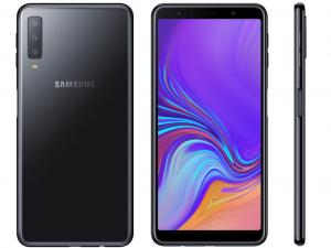 Samsung Galaxy A7 (2018) A750F 64GB 4GB DualSim Fekete Okostelefon