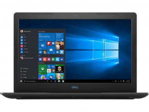 DELL G3 3579 15.6 FHD IPS, Intel® Core™ i7 Processzor-8750H, 16GB, 1TB HDD + 256GB SSD, Nvidia GeForce GTX 1050 Ti - 4GB, Win10H, fekete notebook