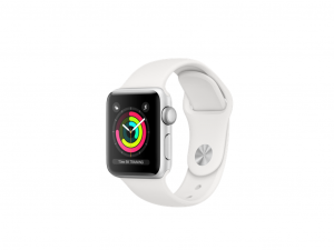 Apple Watch Series 3 8GB Ezüst 42mm Fehér Sportszíj