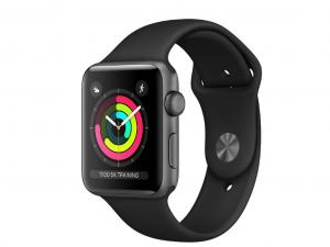 Apple Watch Series 3 - 8GB, Asztroszürke, 38mm-es Fekete Sport Szíjjal