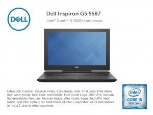 Dell G5 5587 15.6 FHD, Intel® Core™ i5 Processzor-8300H, 8GB, 1TB HDD + 128GB SSD, NVIDIA GTX 1050Ti - 4GB, linux, fekete notebook