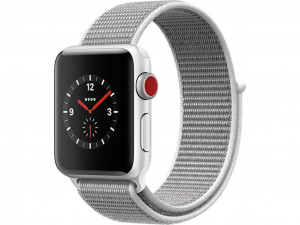 Apple Watch Series 4 GPS 44mm Silver Aluminium Case with Sport Loop Seashell