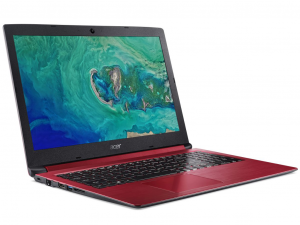 Acer Aspire A315-33-C2J5 15.6 HD, Intel® Dual Core™ N3060,4GB, 128GB SSD, Win10, piros notebook