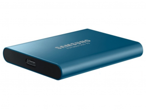 Samsung T5 külső SSD meghajtó - 250GB, USB 3.1, kék