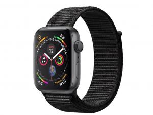 Apple Watch Series 4 GPS 44mm Asztroszürke alumínium ház fekete sportpánttal