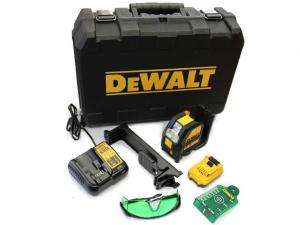 DeWALT DCE088D1G-QW 10.8V Zöld keresztlézer táskában