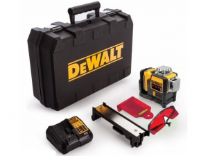 DeWALT DCE089D1R-QW 10.8V piros vonallézer tárolóban