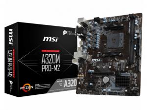 MSI A320M PRO-M2 alaplap - AMD A320, sAM4, mATX
