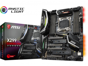 MSI X299 GAMING PRO CARBON alaplap - s2066, Intel® X299, ATX