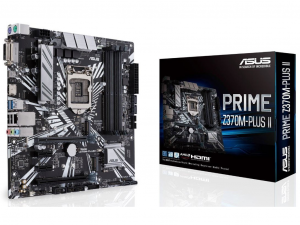 Asus Prime Z370M-PLUS II alaplap - s1151, Intel® Z370M, mATX