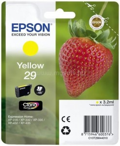 Epson Claria 29 Original Ink Cartridge - Yellow - Inkjet - Sárga patron XP-342