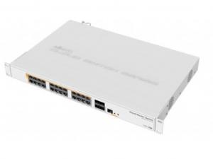 MikroTik CRS328-24P-4S+RM Layer 3 Switch - 24 Gigabit PoE port, 4 SFP+ port, szekrénybe szerelhető