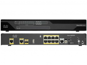 Cisco 892FSP router - 2 Gigabit Ethernet WAN, 8 Gigabit Ethernet LAN, 1 SFP, 1 USB 2.0