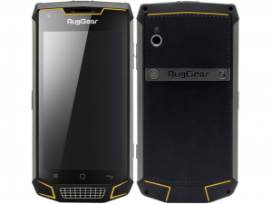 RugGear RG740 IP68 ütés-és vízálló fekete telefon