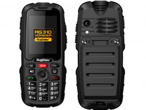 RugGear RG310 IP68 ütés- és vízálló fekete telefon