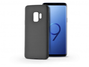 Samsung G960F Galaxy S9 szilikon hátlap - Soft - fekete