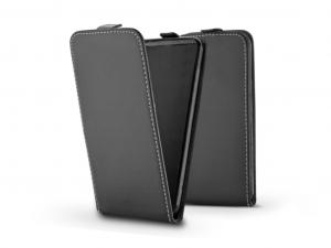 Slim Flexi Flip bőrtok - Huawei/Honor 10 - fekete