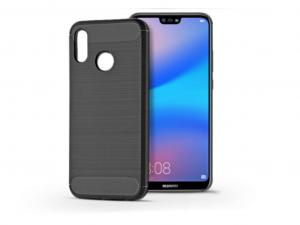 Huawei P20 Lite szilikon hátlap - Carbon - fekete
