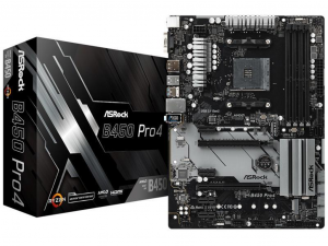 ASRock B450 PRO4 alaplap - sAM4, AMD B450, ATX
