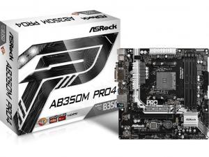 ASRock AB350M PRO4 alaplap - AMD B350, sAM4, mATX