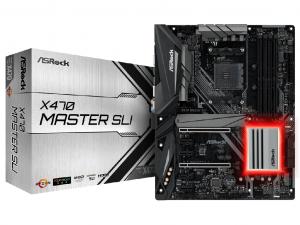 ASRock X470 Master SLI alaplap - sAM4, AMD X470, ATX