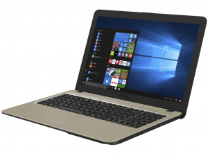Asus VivoBook X540UB-GQ750T 15.6 HD, Intel® Core™ i3 Processzor-7020U, 4GB, 1TB HDD, NVIDIA GeForce MX110 - 2GB, Win10, csokoládé fekete notebook