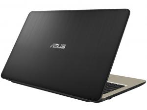 Asus VivoBook X540NA-GQ007T 15.6 HD, Intel® Celeron N3350, 4GB, 500GB HDD, Intel® HD Graphics 500, DVD, Win10, csokoládé fekete notebook