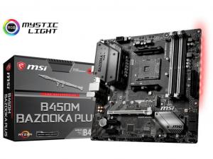 MSI B450M BAZOOKA PLUS alaplap - sAM4, AMD B450, mATX