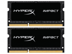 Kingston 8GB 1600MHz DDR3 HyperX Black 1,35V (Kit 2x4GB) notebook memória