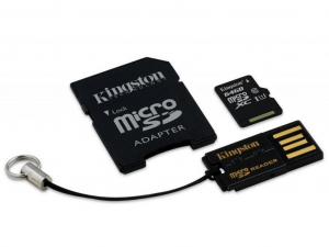64GB micro SDXC Kingston CL10 + adapter + USB reader