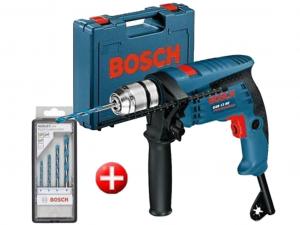 Bosch GSB 13 RE Ütvefúró + 4 részes MultiConstruction fúrókészlet tárolóban