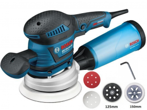 Bosch GEX 125-150 AVE Excentercsiszoló tartozékokkal