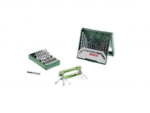 Bosch 15 részes vegyes fúrókészlet + 25 részes csavarozófej-készlet + összehajtható hatlapfejű szerszám