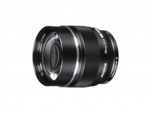 Olympus M.Zuiko Digital ED 75mm F1:F1:8 fekete