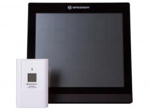 Bresser TemeoTrend JC LCD RC időjárás állomás (falióra), fekete