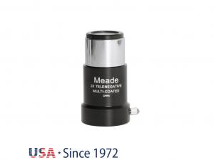 Meade 4000 sorozatú #126 2x rövid fókuszú Barlow-lencse 1,25 Col