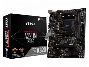 MSI A320M PRO-E alaplap - AMD A320, sAM4, mATX