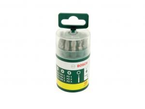 Bosch 9 csavarozóbit, H = 25 mm PH 1/2/3 PZ 1/2/3 S4,5/5,5/8 1 univerzális tartó, mágneses