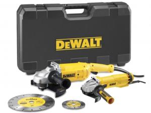 DeWALT DWE492SDT-QS 2 gépes sarokcsiszoló szett