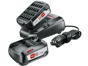 Bosch Kezdőkészlet: 18 V 2 x (2,5 Ah + AL 1830 CV) - akkumulátor és töltő