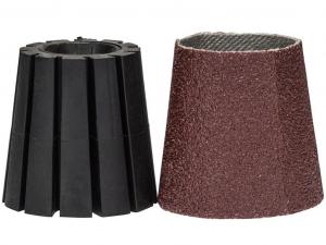 Bosch befogószár & csiszolóhüvely (kúpos) készlet - 30mm, 80 szemcseméret