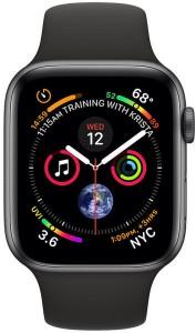 Apple Watch Series 4 GPS 44mm Asztroszürke alumínium ház fekete sportszíjjal