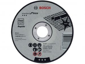 Bosch darabolótárcsa - egyenes, Standard for Inox Rapido, 125x1x22.23mm