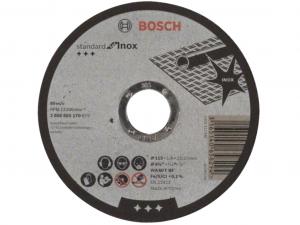 Bosch darabolótárcsa - egyenes, Standard for Inox, 115x1.6x22.23mm