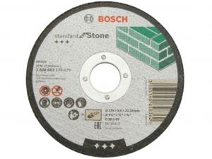 Bosch darabolótárcsa - egyenes, Standard for Stone, 115x3x22.23mm