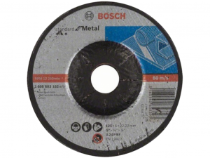 Bosch nagyolótárcsa - hajlított, Standard for Metal, 125x6x22.23mm