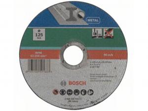 Bosch egyenes darabolótárcsa - fém, 125x1.6x22.23mm